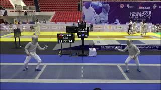 China v Korea: Men's Sabre Team Semifinals 2018 Bangkok Asian Championships