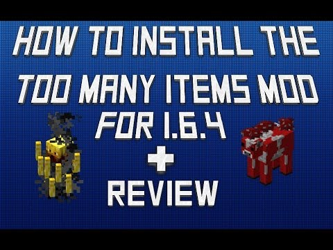 Minecraft 1.6.4-How To Install Too Many Items