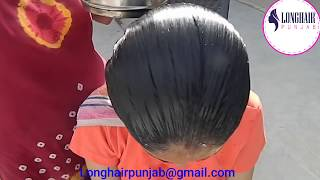 LHPB Rapunzel Sunny Oily Water Dripping Loose Bun And Pin Hair Style With Healthy Hair