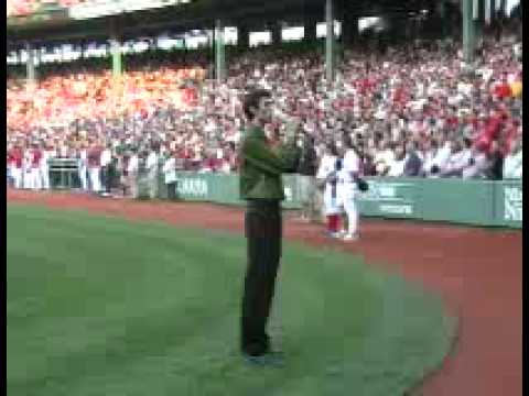 John Coons National Anthem Red Sox