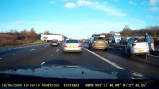 Accident M40 Between J12 and Warwick SVS  16 Feb 2017