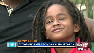Meet the 7-year-old Tampa athlete being called the next Usain Bolt