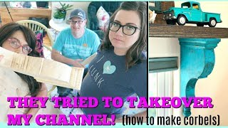 These Youtuber's tried to take over my channel! plus DIY Corbels with Jami Ray vintage