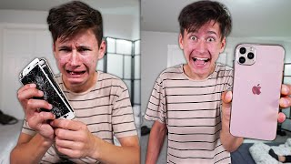 DESTROYING My Brothers IPHONE, Then BUYING Him The IPHONE 11 PRO