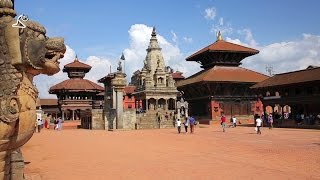 KATHMANDU, NEPAL - JUNE 2013: Everyday scene, Bhaktapur Durbar Square, Before Earthquake