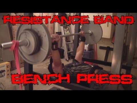 Resistance Band Benchpress Helps To Increase Your Bench!!!