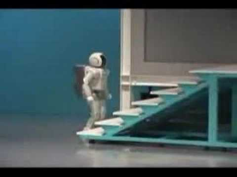 Honda Asimo Falls Down Stairs - Sexy Robots Videos video