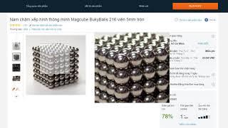 Nam châm xếp hình thông minh Magcube BukyBalls 216 viên giá rẻ nhất ở đâu?
