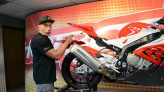 BMW S1000RR Hotbodies Racing undertail install