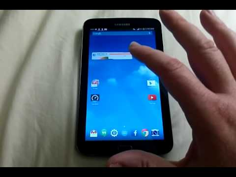 Samsung Galaxy Tab 3 with  KitKat stock launcher