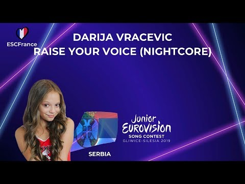 Darija Vračević | Raise Your Voice (Nightcore) | Junior Eurovision 2019 (Serbia