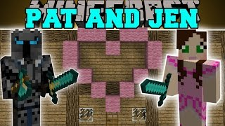 Minecraft: PAT AND JEN MOD (JEN'S HOUSE, FANSION, & SKY CASTLE!) Mod Showcase