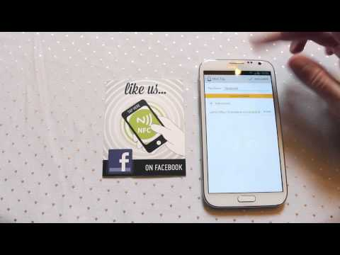 NFC Facebook Like How to guide Near Field Communication - Practical NFC Galaxy Note 2