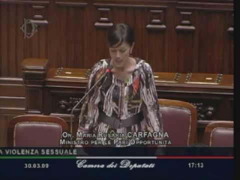 Mara Carfagna alla Camera dei Deputati (30/03/09)