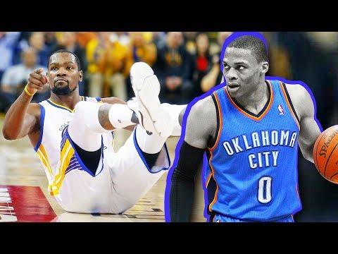 Russell Westbrook Ankle Breaks Kevin Durant Russell Westbrook Drops Kevin