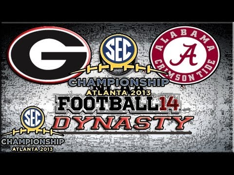 SEC Championship Game NCAA Football 14 Dyanasty Mode Georia Bulldogs vs Alabama Crimson Tide