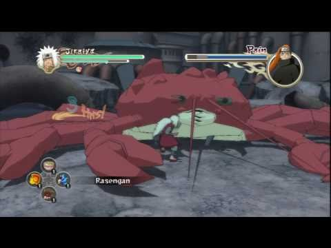 Naruto Ultimate Ninja Storm 2 - Jiraiya Vs Pain (story Battle S-rank Part 1) video