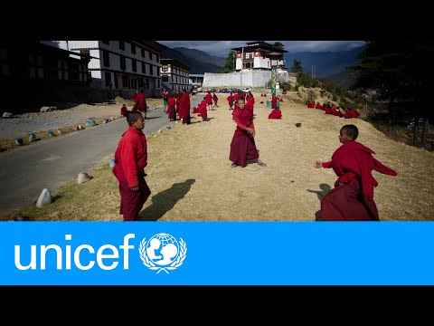 Child monks take football to new heights in Bhutan