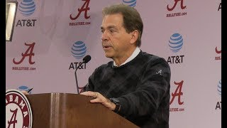 Nick Saban Press Conf  Auburn Week Nov 20, 2017