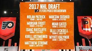 Draft 2017: Nolan Patrick, Morgan Frost, Isaac Ratcliffe,  Matthew Strome, Maksim Sushko - speaks