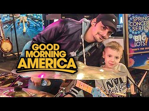 """Good Morning America"" Brad Paisley & Avery 6 year old Drummer"