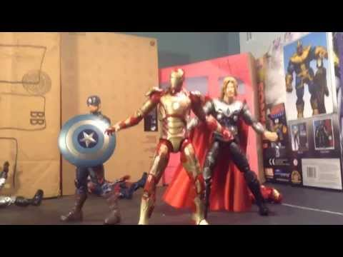 MCU Phase 2 sequel battle: iron man vs captain america vs thor stop motion