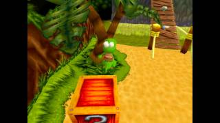 Croc 2 Kingdom of the Gobbos [PSX] 100% - Level 1-4 Save the Bird from the Thief!