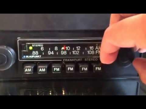 Chromelondon.com BLAUPUNKT FRANKFURT STEREO US VINTAGE CLASSIC CAR RADIO WITH MP3 and WARRANTY