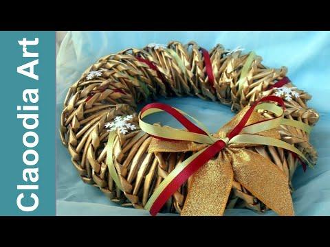 Jak Zrobić Wianek Z Papierowej Wikliny? (wreath, Paper Wicker)