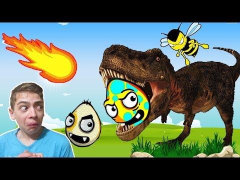 РАЗБИВАЕМ ЯЙЦА  Удар стихии видео игра для детей на канале GAMES FACTORY
