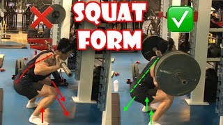 How To Do: Barbell Squats (Bad Form vs. Good Form) | How To Squat Properly