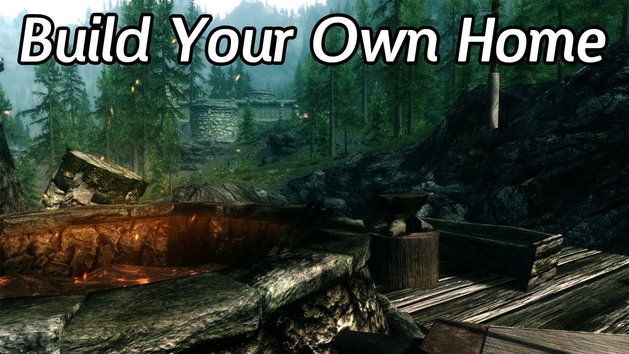 Skyrim mods build your own home youtube for Build your house