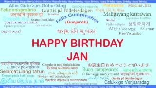 Jan   Languages Idiomas - Happy Birthday