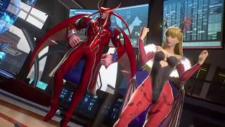 Ultron and Iron Man vs Morrigan and Jedah - MARVEL VS. CAPCOM: INFINITE