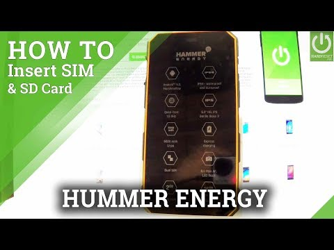 How to Set Up SIM & SD in myPhone Hammer Energy - Install SIM & SD