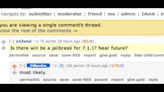 "iOS 7.1.1 Jailbreak ""MOST LIKELY!!"""