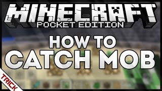 HOW TO CATCH MOBS - MINECRAFT PE - TRICK