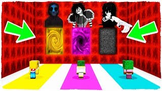 DO NOT CHOOSE THE WRONG DIMENSION! Eyeless Jack, Jane the Killer and Laughing Jack in Minecraft