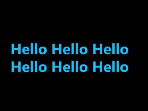 Karmin - Hello (lyrics Video) video