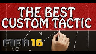 FIFA 16 BEST CUSTOM TACTIC - HOW I MADE 95 WINS IN A ROW