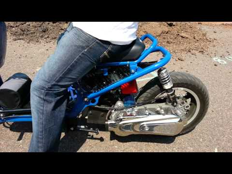Stock Honda ruckus vs gy6 150cc ruckus big bore kit and performance scooter cam