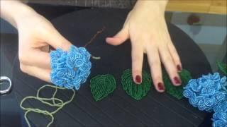 Цветы из бисера. Гортензия. Beaded hortensia. Часть 2/2. Мастер-класс