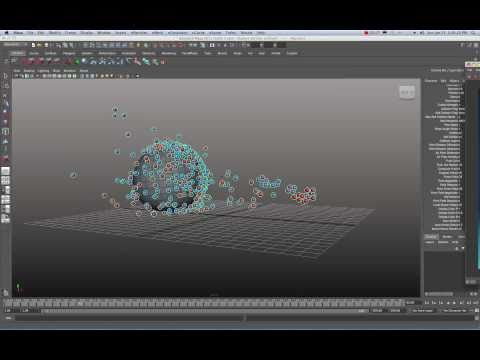 Maya 2011 nCloth with nParticles Goal Tutorial by Stuart Christensen
