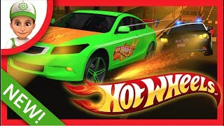 Hot Wheels Desenhos Corrida Hot Wheels em PORTUGUES. Carro da policia Desenho de Carros animado.