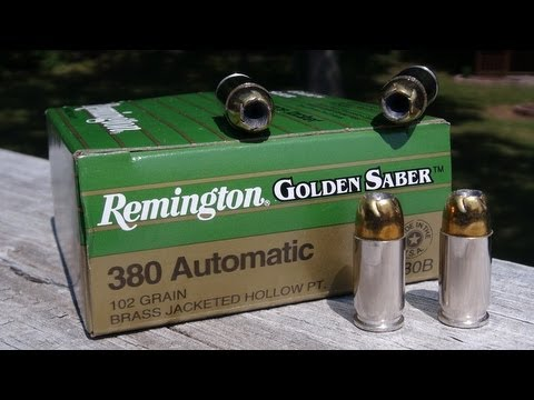 AMMO TEST:  .380 ACP Remington Golden Saber 102 gr JHP