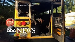 School Bus Driver Braves Flames to Save Students