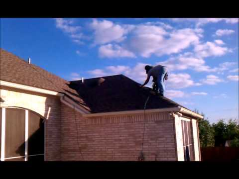 San Antonio re-roof of a wind storm damaged home - Horizon Construction