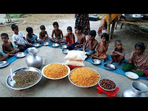 Traditional Tiny Sweet (Bundia) Making For Ramadan Iftar - Huge Iftar Food Arrangement For Villagers
