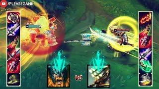 OLAF vs MASTER YI FULL BUILD FIGHT! & 18 LEVEL | 1V1!