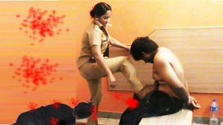 Hot and Sexy Stylish kerala lady police ashas kick Brutal 3rd degree